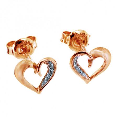 Loveheart ear rosé SIC54  Colling Jewellery 550,00kr