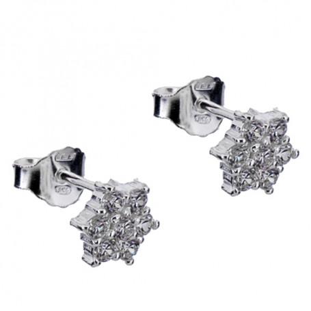 Örhängen stjärnor med vita stenar 1-20-0014  Hem 395,00kr