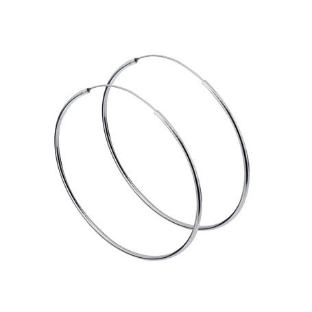 örhängen stora ringar silver