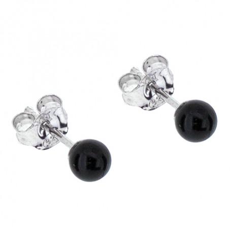 Örhängen svarta kulor 4 mm 1-20-0082  Hem 159,00kr