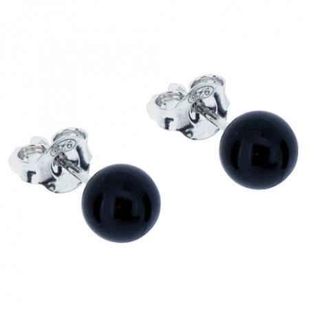 Örhängen svarta kulor 6 mm 1-20-0084  Hem 199,00kr