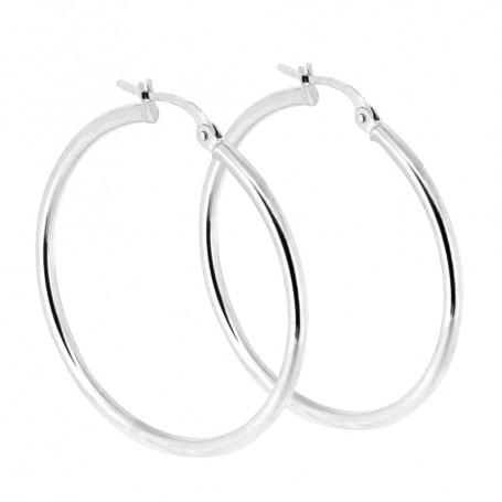 Örhängen vitguld stora ringar 5-20-0070  Hem 2,695.00