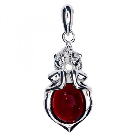 Emmahänge stor silver röd ZEHSröd Zorn Jewellery Hem 1,690.00