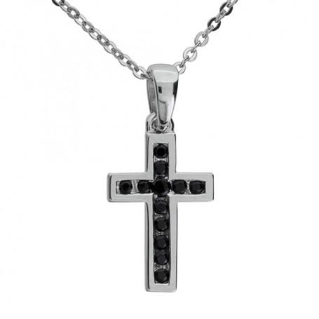 Cross black SIC47  Halsband 36cm till 50cm 599,00kr
