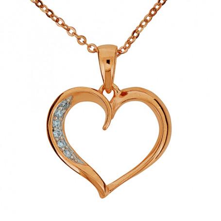 Loveheart rosé SIC65  Halsband 36cm till 50cm 595,00kr