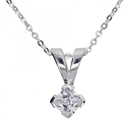 Smycke med glittersten 1-10-0005  Halsband 36cm till 50cm 349,00kr