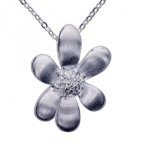 Smycke med blomma 1-10-0017  Halsband 36cm till 50cm 690,00kr