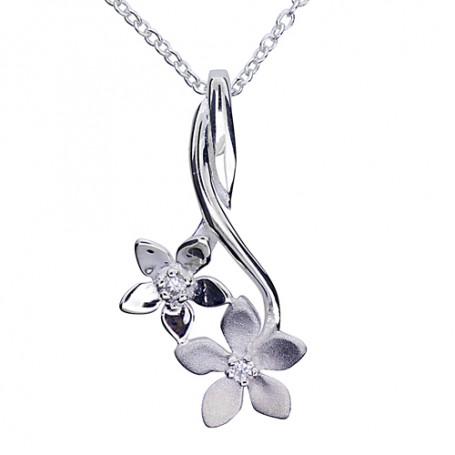 Blommor på stjälk 1-10-0023  Halsband 36cm till 50cm 495,00kr