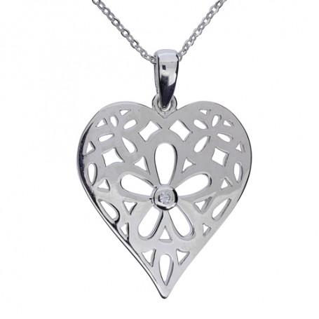 Ornament hjärta halsband 1-10-0030  Halsband 36cm till 50cm 550,00kr
