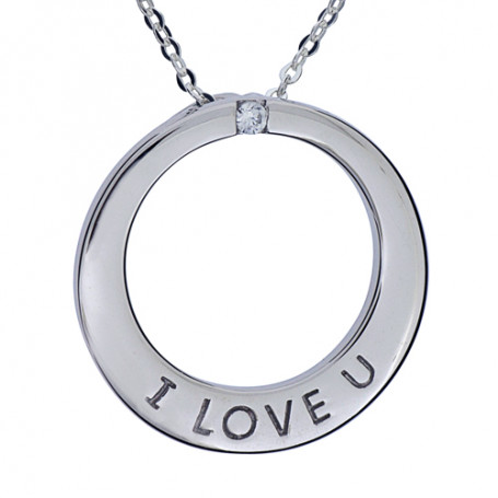 I love U smycke 1-10-0035  Halsband 36cm till 50cm 595,00kr