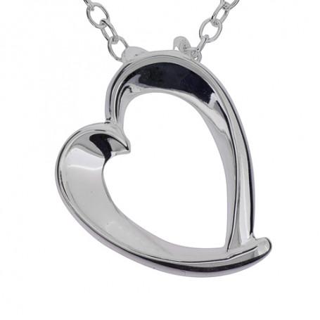 Stort smyckeshjärta 1-10-0039  Halsband 36cm till 50cm 699,00kr
