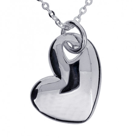 Hjärta smycke silver 1-10-0040  Halsband 36cm till 50cm 399,00kr