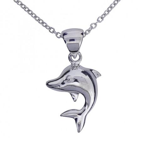 Halsband med delfin 1-10-0081  Halsband 36cm till 50cm 299,00kr