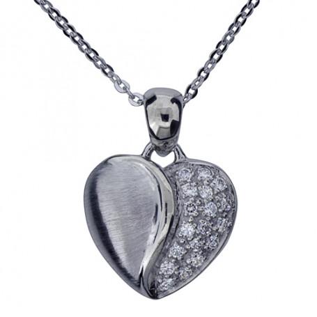 Halsband med hjärta 1-10-0082  Halsband 36cm till 50cm 699,00kr