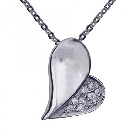 Halsband med hjärta 1-10-0084  Halsband 36cm till 50cm 499,00kr