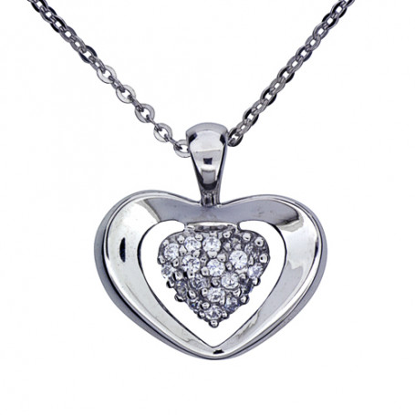 Halsband med hjärta 1-10-0085  Halsband 36cm till 50cm 650,00kr