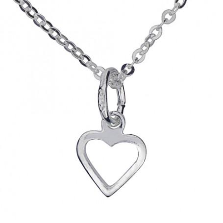 Hjärta med kedja 1-10-0095  Halsband 36cm till 50cm 149,00kr