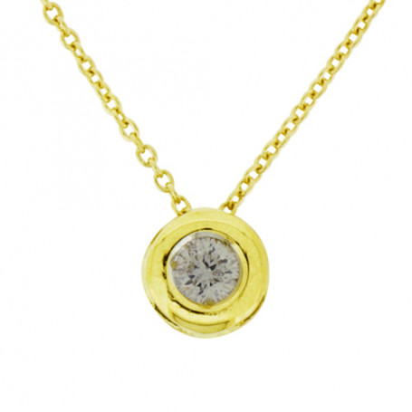 Halsband i guld med diamant 5-10-0018  Hem 3,790.00