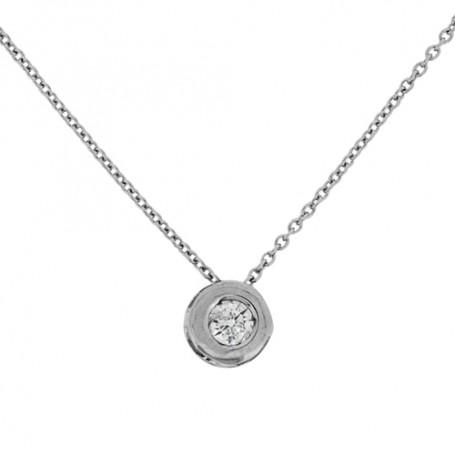 Halsband i vitguld med diamant 5-10-0019  Hem 3,790.00