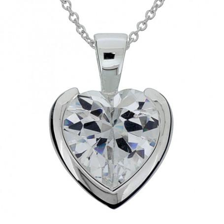 White heart 1-10-0146  Halsband 36cm till 50cm 795,00kr