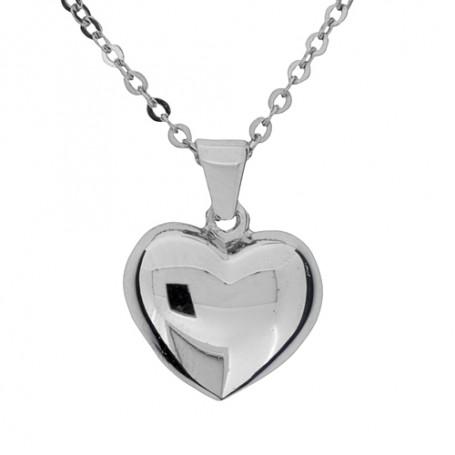 Halsband slätt hjärta 1-10-0163  Halsband 36cm till 50cm 269,00kr