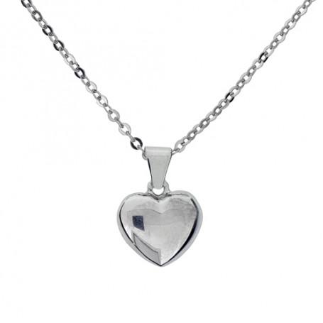 Halsband slätt hjärta 1-10-0164  Halsband 36cm till 50cm 239,00kr