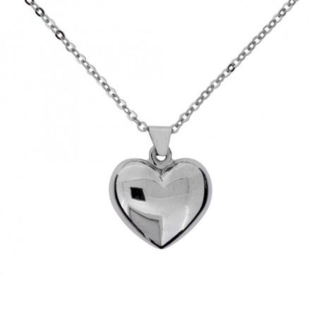 Halsband slätt hjärta 1-10-0166  Halsband 36cm till 50cm 295,00kr
