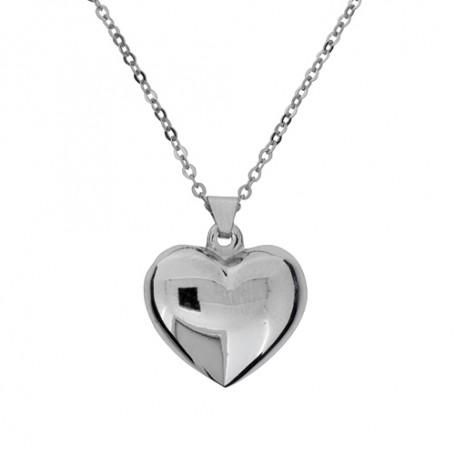 Halsband slätt hjärta 1-10-0167  Halsband 36cm till 50cm 349,00kr