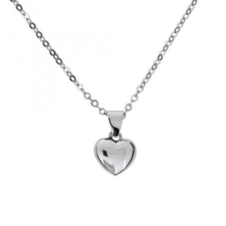 Halsband slätt hjärta 1-10-0168  Halsband 36cm till 50cm 219,00kr