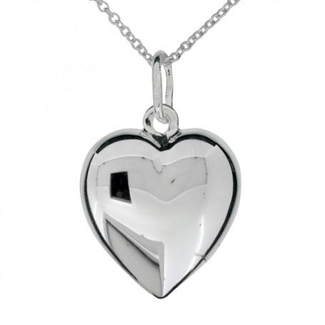 Halsband slätt hjärta 1-10-0170  Halsband 36cm till 50cm 399,00kr