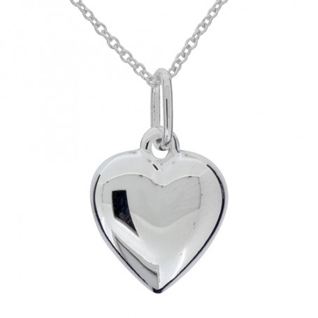 Halsband slätt hjärta 1-10-0174  Halsband 36cm till 50cm 299,00kr