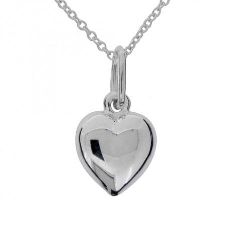 Halsband slätt silverhjärta 1-10-0175  Halsband 36cm till 50cm 249,00kr