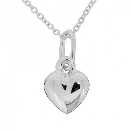 Halsband slätt hjärta 1-10-0176  Halsband 36cm till 50cm 249,00kr