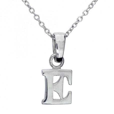 Halsband med bokstav E 1-25-0005K  Halsband 36cm till 50cm 229,00kr