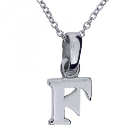 Halsband med bokstav F 1-25-0006K  Halsband 36cm till 50cm 249,00kr