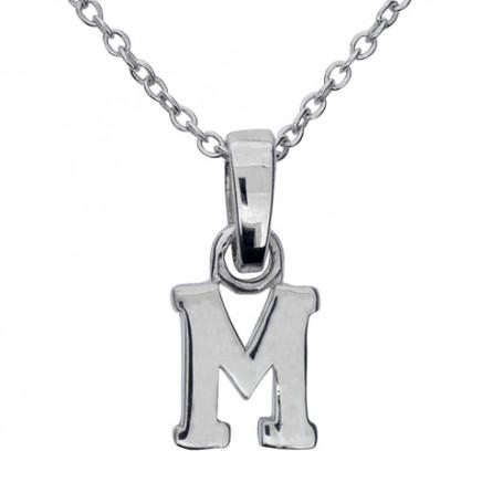 Halsband med bokstav M 1-25-0013K  Halsband 36cm till 50cm 249,00kr