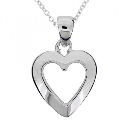 Hjärta halsband silver 1-10-0158  Halsband 36cm till 50cm 349,00kr