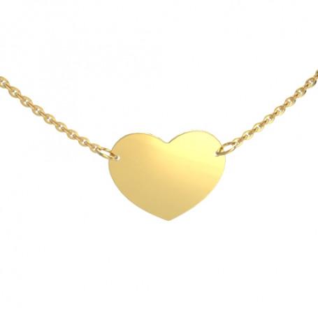 Guldhalsband med hjärta 9-50-0017-43  Hem 795,00kr