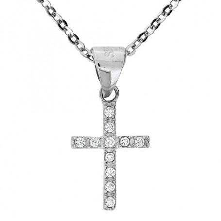 Halsband litet kors 1-10-0213  Halsband 36cm till 50cm 395,00kr