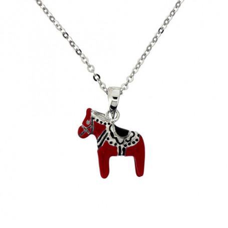 Röd dalahäst halsband 1-10-0221  Halsband 36cm till 50cm 399,00kr