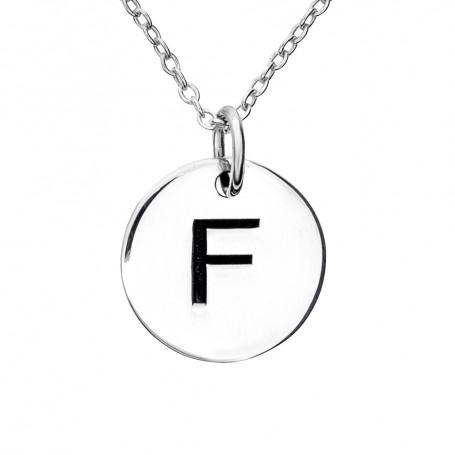 Halsband med bokstav F 1-25-0057K  Halsband 36cm till 50cm 299,00kr