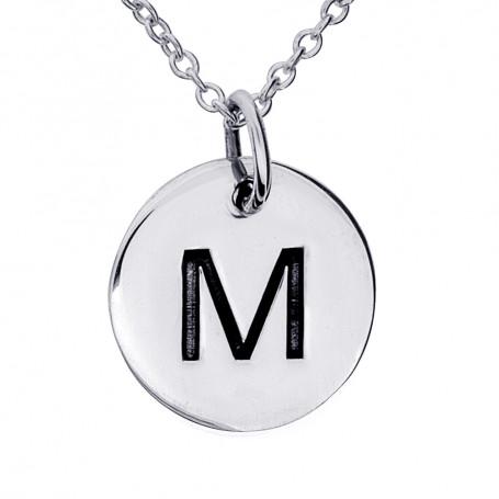 Halsband med bokstav M 1-25-0064K  Halsband 36cm till 50cm 299,00kr