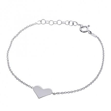Armband äkta silver med hjärta 1-40-0006  Hem 299,00kr