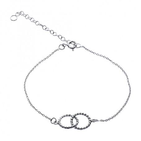 Armband två ringar 1-40-0009  Hem 279,00kr
