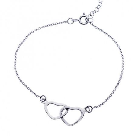 Armband med två hjärtan 1-40-0010  Hem 299,00kr