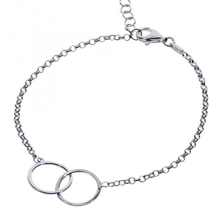 Armband med två ringar 1-40-0019  Hem 299,00kr