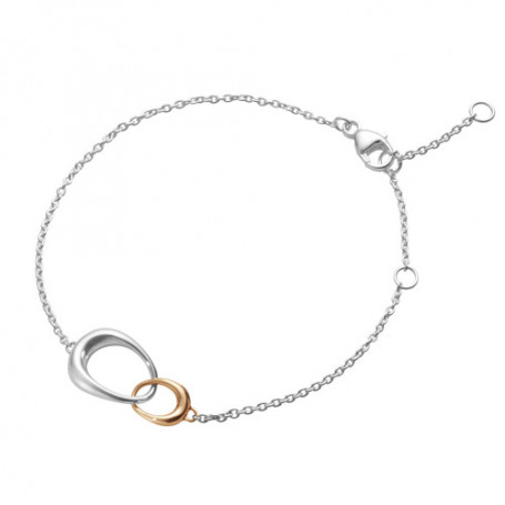 Georg Jensen Offspring bracelet silver och guld 10012371 Georg Jensen Hem 2,750.00