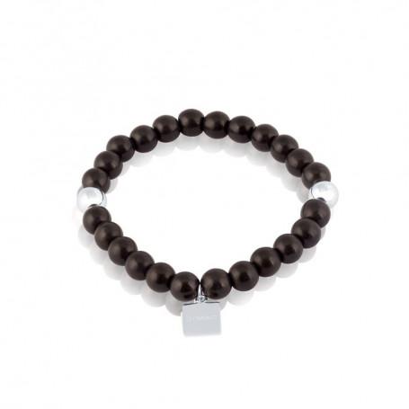 Funky black stone armband Large S180  Hem 490,00kr