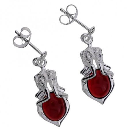 Emmaörhängen hängande silver röda ZEÖHröda  Hem 2,390.00