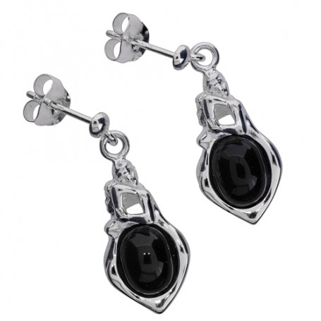 Zornörhängen silver svart sten ZZÖHsvarta Zorn Jewellery Hem 2,390.00